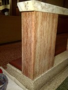 damaged marble repair with faux finish