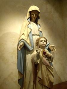 vintage religious art statue restoration
