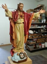 plaster church statue repair and restoration