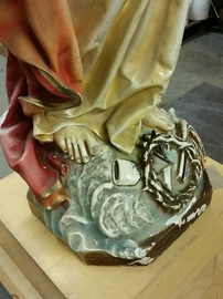 plaster church statue repair cleaning and restoration