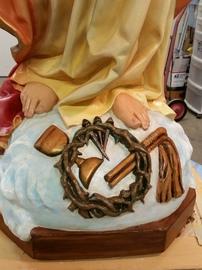 plaster church statue repair