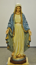 restoration of Blessed Mother statue