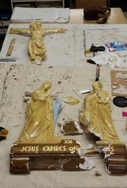 church statue restoration
