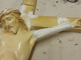 repair of plaster statues
