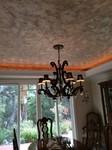 metallic plaster dinging room ceiling