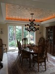 metallic plaster dining room ceiling
