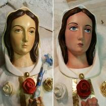 Restoration of Rosa Mystica statue
