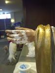 plaster statue restoration